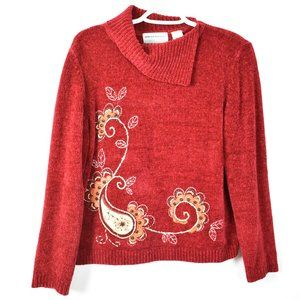 Alfred Dunner Red Chenille